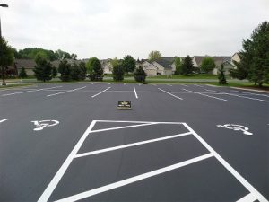 Industrial Parking Lot Sealcoating and Striping