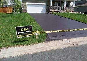 Power Edging Driveway Treatment
