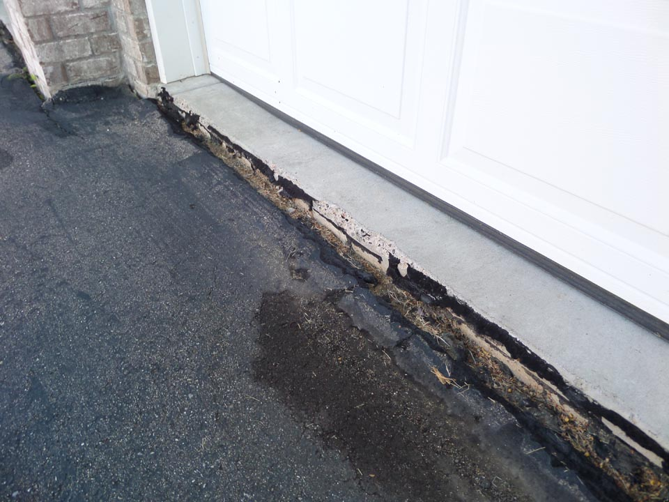 Driveway is lower than garage floor
