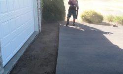 Clean Up Area Prior To Hot Asphalt
