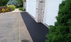 Finished Asphalt Driveway Apron Repair