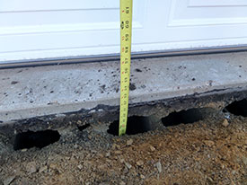 Showing Cracked and Settled Asphalt Driveway Apron